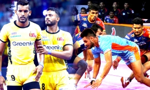 Pro Kabaddi league 2019 : பரபரப்பான ஆட்டத்தில் ஒரு புள்ளியில் வெற்றி பெற்ற டபாங் டெல்லி!- வீடியோ