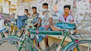 Puducherry Migrants  set Out On 1500 KM Cycle Journey To Odisha.