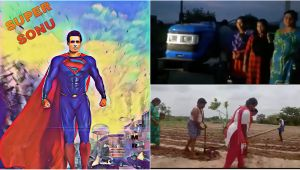 Sonu Sood Gifts Tractor to a Farmer Family