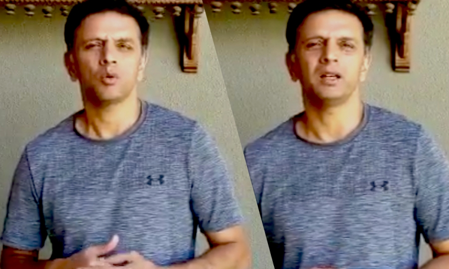 Rahul Dravid requests the citizens of India to stay indoors