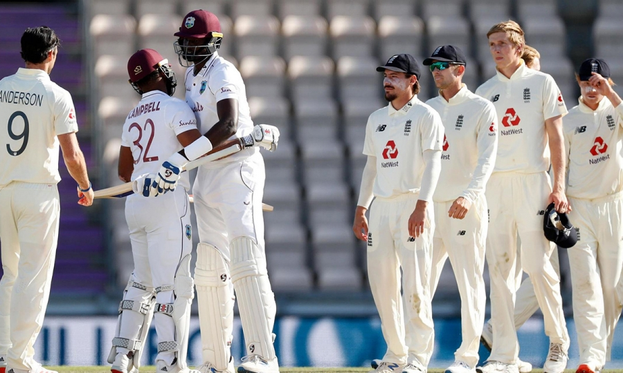 ENG vs WI 1st Test day 5 | West Indies beat England , won by 4 wickets