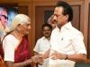 ஸ்டாலினை சந்தித்த 103 வயது ரங்கம்மா பாட்டி..  இருப்பதிலேயே சீனியர் இவர்தான்