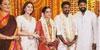 ஆர்யா மனைவியுடன் இயக்குனர் விஜய்  இரண்டாவது திருமணத்தில் கலந்துகொண்டனர்