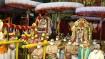 திருப்பதி பிரம்மோற்சவம்:  கருட வாகனத்தில் மகரகண்டி, லக்ஷ்மி ஆரம் அணிந்து மலையப்பசுவாமி தரிசனம்