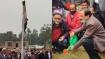 தேசியக்கொடி ஏற்றி துவங்கப்பட்ட அயோத்தி மசூதி கட்டும் பணி