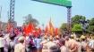 கன்னட கொடியை அகற்றக் கோரி சிவசேனா போராட்டம் - ஸ்தம்பித்த கர்நாடக பார்டர்