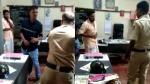 ஆபாச பேச்சு.. கிண்டல்.. 2 வாலிபர்களைப் பிடித்து பிரம்பாலேயே வெளுத்த குடகு போலீஸ்!