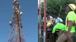 60 வயசு தாத்தாவுக்கு இது ரொம்ப ஓவர்.. 100 அடி உயர டவரில் ஏறி அழிச்சாட்டியம்.. 3 மணி நேரம்!