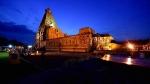 தஞ்சை பெரிய கோவில் கும்பாபிஷே பணிகள் தொடங்கியது -  22ஆயிரம் சதுரஅடி பரப்பளவில் யாகசாலை