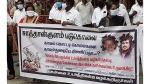 சாத்தான்குளம் இரட்டை படுகொலையை கண்டித்து சென்னையில் ஹைகோர்ட் வழக்கறிஞர்கள் ஆர்ப்பாட்டம்