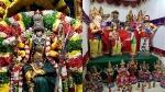 மீனாட்சி அம்மன் கோவில் நவராத்திரி விழா - கொலுமண்டபத்தில் எழுந்தருளிய அம்மன்