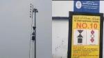 புதுச்சேரி துறைமுகத்தில் பேரபாயத்தை குறிக்கும் 10ம் எண் புயல் எச்சரிக்கை கூண்டு ஏற்றம்