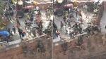 டெல்லி செங்கோட்டையில் போலீசார் மீது கொடூர தாக்குதல்-  பதறவைக்கும் அதிர்ச்சி வீடியோ
