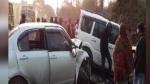 தெலுங்கானாவில் 2  கார்கள் நேருக்கு நேர் பயங்கரமாக மோதல்.. 7 பேர் சம்பவ இடத்திலேயே பலி