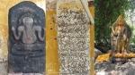 செஞ்சி அருகே 1300 ஆண்டுகள் பழமைவாய்ந்த கொற்றவை, பிள்ளையார் சிற்பம் கண்டெடுப்பு!