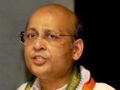 ஆபாச சிடி சர்ச்சை: காங்கிரஸ் செய்தித் தொடர்பாளர் பொறுப்பிலிருந்து சிங்வி ராஜினாமா