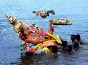 2வது நாளாக சென்னையில் இன்று 1,400 விநாயகர் சிலைகள் கடலில் கரைப்பு