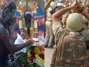 பசும்பொன்னில்  தேவர் குருபூஜை விழா: அமைச்சர்கள் அஞ்சலி... தடையை மீறியவர்கள் மீது போலீஸ் தடியடி