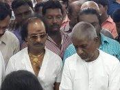 எம்எஸ் விஸ்வநாதனுக்கு இளையராஜா நேரில் அஞ்சலி