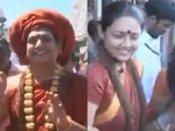 திருப்பதியில் ஜடாமுடியுடன்  நித்யானந்தா... ரஞ்சிதா உடன் விஐபி தரிசனம் செய்ய அனுமதி மறுப்பு