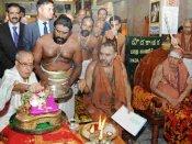 அடுத்த மாதம் பதவிக் காலம் முடியும் நிலையில்.. ஜனாதிபதி பிரணாப் முகர்ஜி சங்கராச்சாரியார் சந்திப்பு