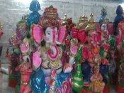 விநாயகர் சதுர்த்தி - வண்ண வண்ண விநாயகர் சிலை தயாரிப்பு பணி தீவீரம்