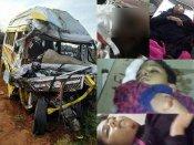 நெல்லை அருகே சிமெண்ட் லாரி மீது வேன் மோதி விபத்து - 3 பேர் பலி, 10 பேர் படுகாயம்