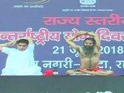 சர்வதேச யோகா தினம்: பாபா ராம்தேவ் தலைமையில் 2 லட்சம் பேர் கின்னஸ் சாதனை