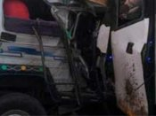 ஆந்திராவில் தனியார் பேருந்து-ஜீப் நேருக்கு நேர் மோதல்... 15 பேர் பரிதாப பலி