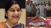 காற்றில் கரைந்த தேவதை.. முழு அரசு மரியாதையுடன் சுஷ்மா சுவராஜ் உடல் தகனம்!