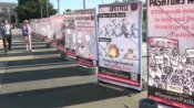 ஐ.நா. மனித உரிமைகள் ஆணையம் முன்பு பலுசிஸ்தானில் பாக். மனித உரிமை மீறல்களை வெளிப்படுத்தும் பதாகைகள்