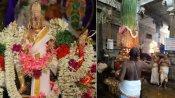 ஸ்ரீவில்லிபுத்தூர் ஆண்டாள் கோவிலில் ஆடிப்பூர விழா  கொடியேற்றம் : தடையை மீறி வழிபட்ட பக்தர்கள்
