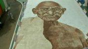 சென்னை இளைஞர்...காபி பவுடரில் காந்தி ஓவியம்...கின்னஸில் பதியப்படுமா?