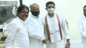 ஊடலுக்கு பின்னர் முதல் சந்திப்பு,,,சச்சின் அசோக் கெலாட்... ராஜஸ்தானில் அரசியல் மாற்றம்!!!