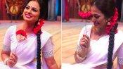 ரம்யா பாண்டியன் சிரிச்சதும்.. அப்படியே சந்தோஷமா மலர்ந்த பூ.. அடடே ஆச்சரியக் குறி!