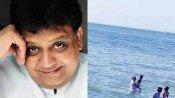 ராமேஸ்வரம் அக்னி தீர்த்தக் கடலில்  எஸ்பிபிக்கு மலர்தூவி அஞ்சலி!!