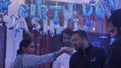 பீகார்: ரிசல்ட் பரபரப்புக்கு நடுவே பிறந்த நாள் கொண்டாடிய தேஜஸ்வி யாதவ்!