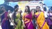 கல்லூரி மாணவிகளுடன் கோதாவில் குதித்த நடிகை கஸ்தூரி.. தாருமாறான ஆட்டம்