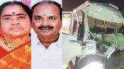 ஆந்திராவில் லாரி மீது வேன் மோதி விபத்து - தமிழகத்தைச்  சேர்ந்த 7 பேர் உடல் நசுங்கி பலி