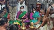 ராமேஸ்வரத்தில் ஸ்படிக லிங்க பூஜை செய்த சசிகலா - அதிமுக அதிகாரத்தை கைப்பற்ற வேண்டுதல்