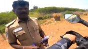 இதுதான் தமிழ்நாடு போலீசின் மனித நேயம்.. கர்நாடகா பைக்கரை தடுத்து நிறுத்தி செய்ததை பாருங்க..  வீடியோ