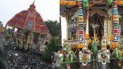 ஆருரா தியாகேசா... திருவாரூர் ஆழித்தேரோட்டம்  கோலாகலம் - பல்லாயிரக்கணக்கானோர் தரிசனம்