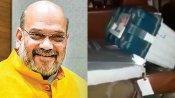 பா.ஜ.க வேட்பாளரின் காரில் இவிஎம் மெஷின்: ''யாராக இருந்தாலும் விடாதீங்க''.. சொல்கிறார் அமித்ஷா!