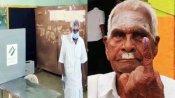 ஜனநாயக கடமை ஆற்றிய 105 வயது மாரப்பன்...103 வயது அரசன் - ஆசி பெற்ற தேர்தல் அலுவலர்கள்