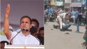மத்தியபிரதேசத்தில் மாஸ்க் அணியாத இளைஞர் மீது மிருகத்தனமாக தாக்குதல் - ராகுல்காந்தி கண்டனம்