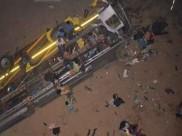 ஒடிஷாவில் பாலத்தில் இருந்து ஆற்றில் விழுந்த தனியார் பேருந்து: 12 பேர் பலி, 49 பேர் காயம்