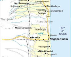 Nagappatinam map