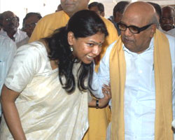 Kanimoli with Karunanidhi