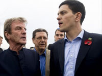 Bernard Kouchner and David Miliband