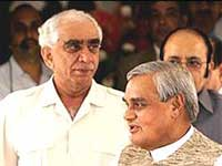 Vajpayee with Jaswant Singh